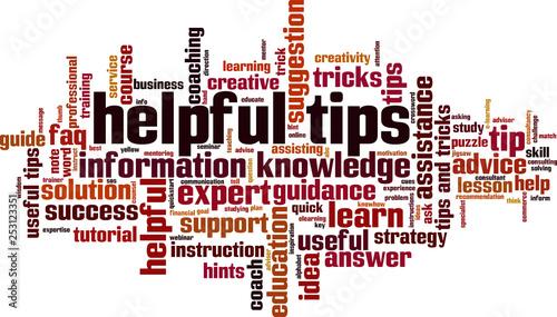 Fotografie, Obraz Helpful tips word cloud