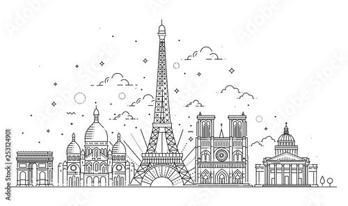 Fotografia Architectural landmarks of Paris