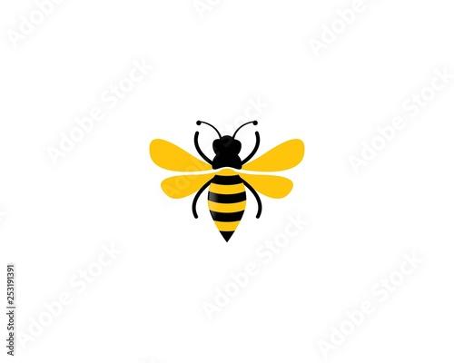Fotografia, Obraz Bee logo vector icon illustration