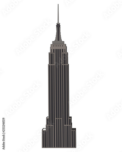 Fotografering Empire State Building isolated vector illustration