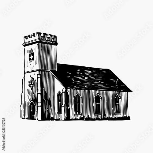 Leinwand Poster St. Mark's church illustration vector