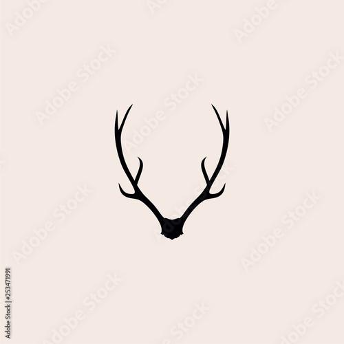 Fotografia deer antlers logo vector illustration icon