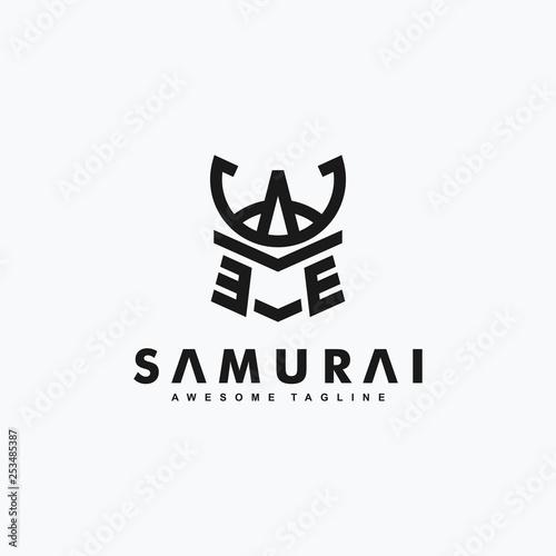 Wallpaper Mural Abstract Samurai art concept illustration vector Design template
