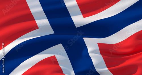 Wallpaper Mural Norway flag patriotic background, 3d illustration