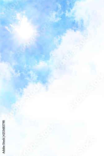 Obraz na płótnie Letnie niebo w błękicie