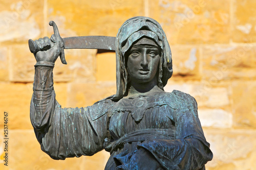 Canvas Print Statue of Judith and Holofernes near Palazzo Vecchio
