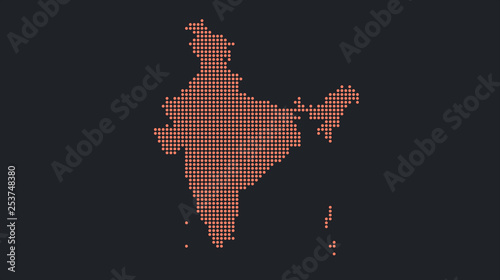 Photo Abstract flat colorful India map.
