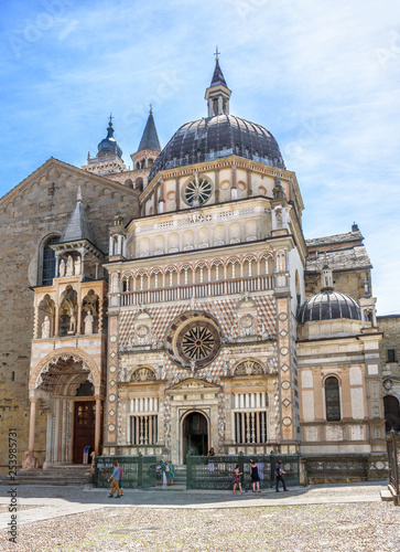 Basilica of Santa Maria Maggiore in Citta Alta, Bergamo, Italy Fotobehang