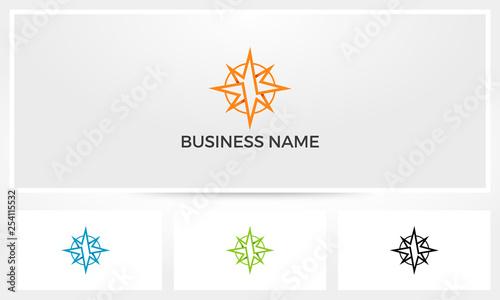 Photo Abstract Compass Logo