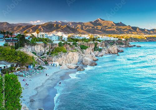 Carta da parati Nice beach in Nerja, Spain