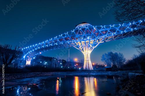 Tabiat Bridge in Tehran at Night, taken in January 2019 taken in hdr