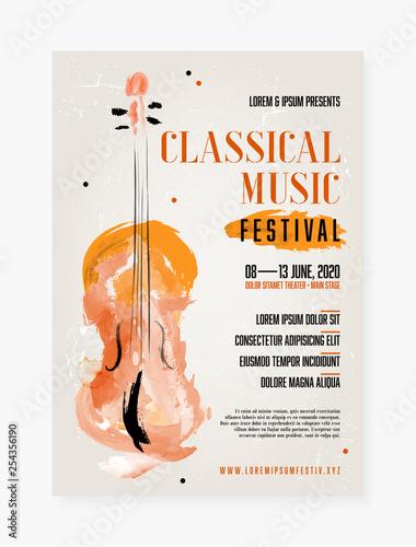Wallpaper Mural Classical music festival poster template