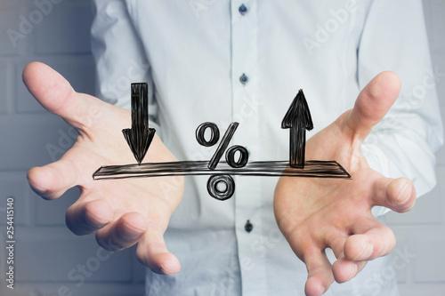 Carta da parati Changes in interest rates.