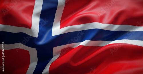 Norwegian flag. Norway. Poster Mural XXL