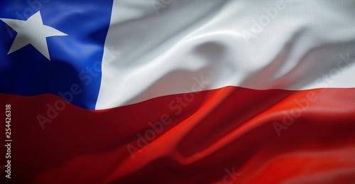 Bandera Chilena. (Chile) Fototapeta