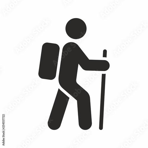 Valokuva Hiking vector icon