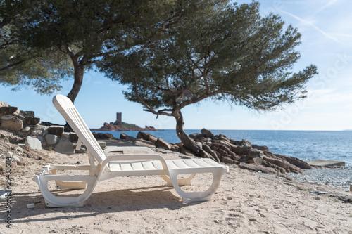 Photographie chaise longue à l'île d'or