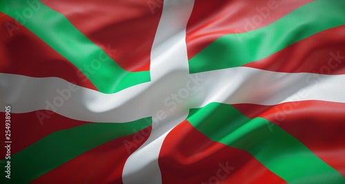 Ikurriña, bandera oficial del País Vasco.