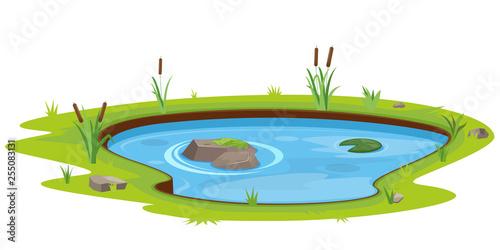 Obraz na plátně Natural pond outdoor scene