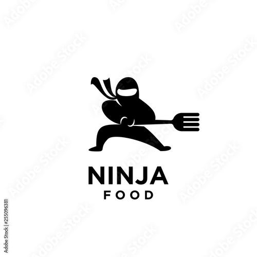 Fototapeta ninja food logo icon designs vector illustration template