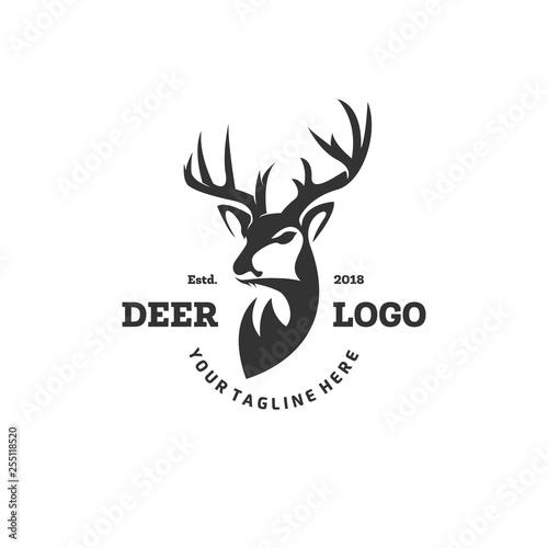Murais de parede deer logo designs inspirations, hunting club logo