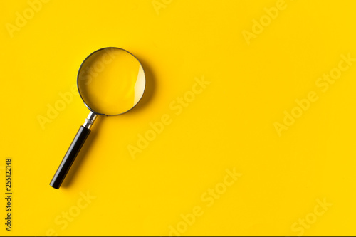 Canvas Print Magnifying glass