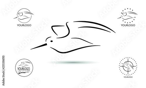 Fotografia Woodcock hunt logo designs vector, Badge of woodcock Hunting logo