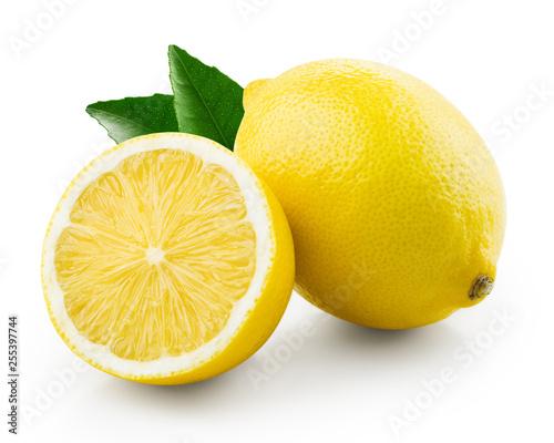 Obraz na plátně Fresh lemon with half