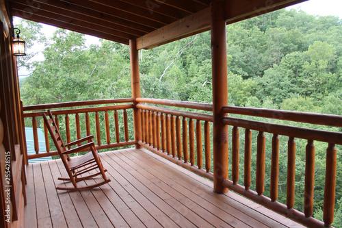 Carta da parati log cabin on the mountain
