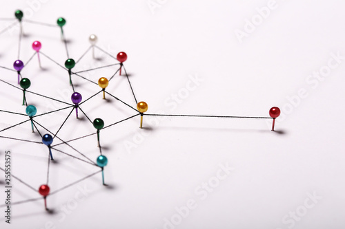Photo Linking entities. Network, networking, social media, internet co