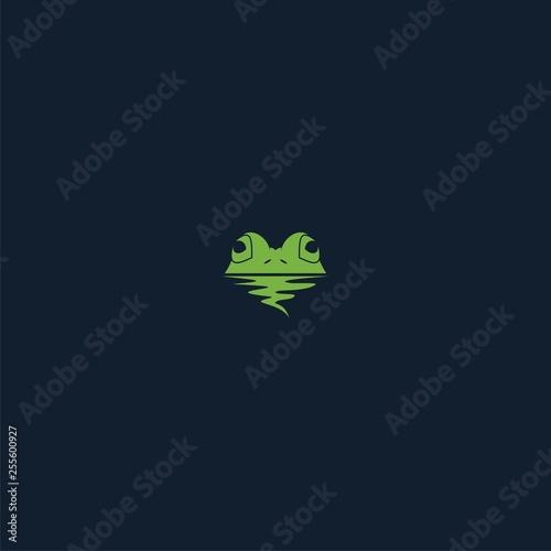 Obraz na płótnie logo frog luxury