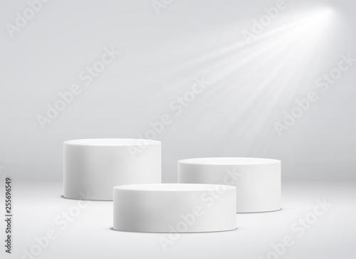 Fototapeta White cylinder template