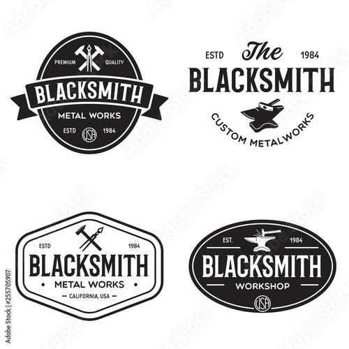 Slika na platnu Blacksmith labels set