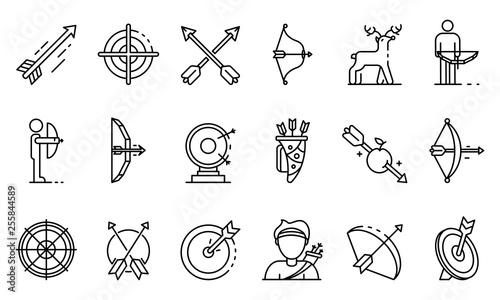 Vászonkép Archery icons set