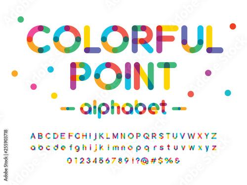 Murais de parede Vector of modern colorful alphabet design