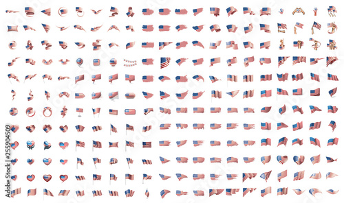Valokuva very big collection of vector flags of the USA