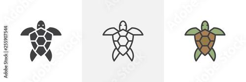 Canvas Print Sea turtle icon