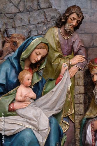 Fotografija Nativity Scene, altarpiece in the church of Saint Matthew in Stitar, Croatia
