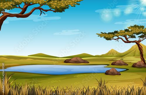 Obraz na plátně A savanna nature scene
