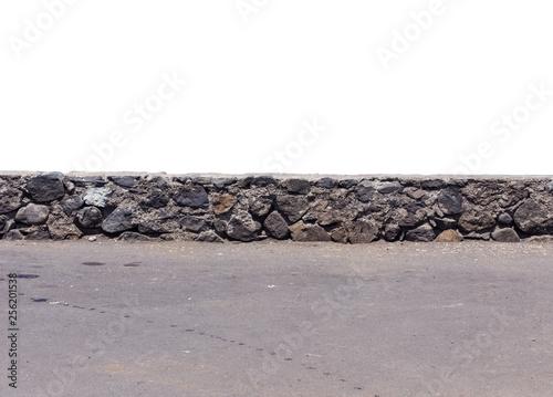 Muret de pierres, parapet en maçonnerie Fototapeta