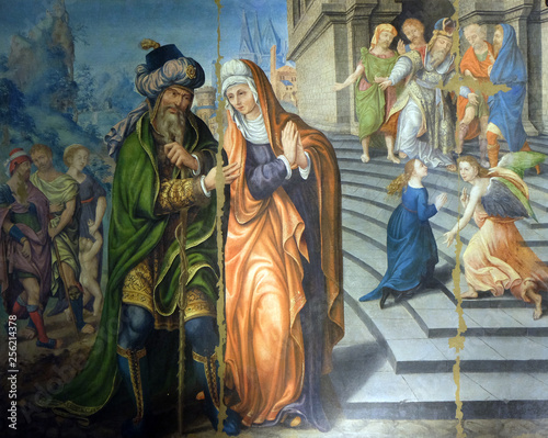 Fotografiet The Presentation of the Virgin at the Temple, altarpiece in the Saint Germain l'