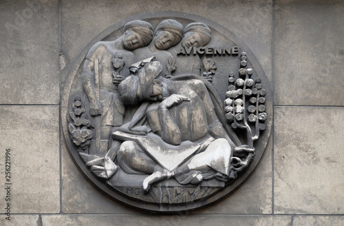 Avicenna, was a Persian polymath who is one of the most significant physicians, Fototapet