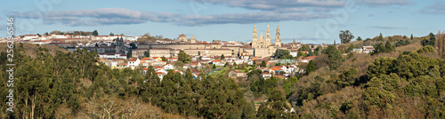 Santiago de Compostela wide panoramic view