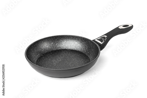 Fotografia Marble frying pan isolated on white background.