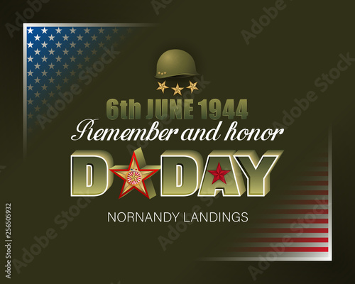 Wallpaper Mural Holiday design, background with 3d texts, army helmet and national flag colors f