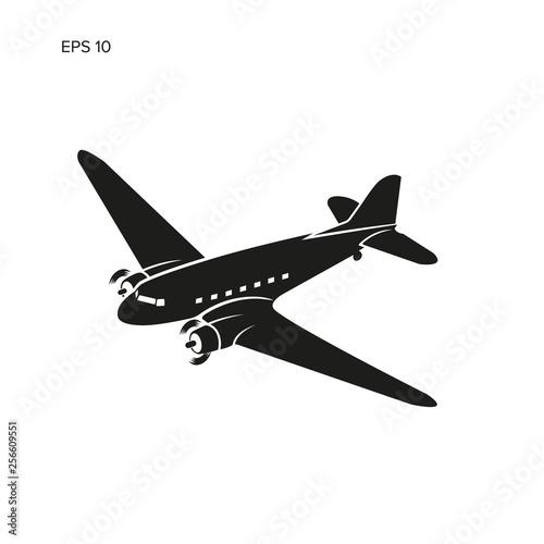 Obraz na plátně Old vintage piston engine airliner.