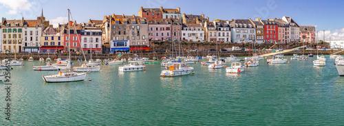 Tela Douarnenez. Panorama du port du Rosmeur, Finistère, Bretagne