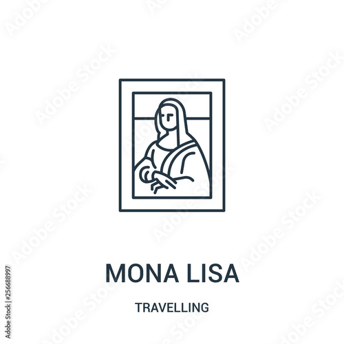 Fotografie, Tablou mona lisa icon vector from travelling collection