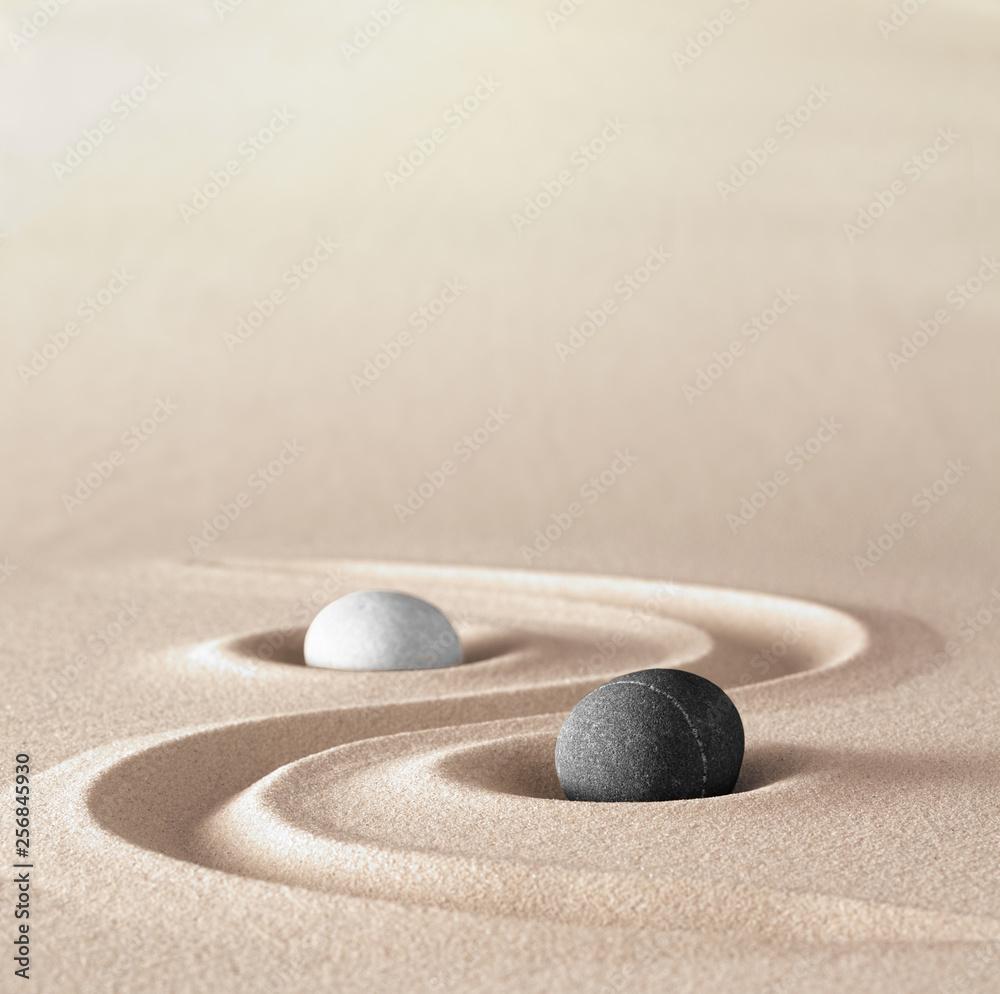 zen garden meditation stone - obrazy, fototapety, plakaty