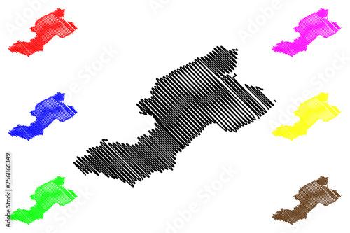 Fotografia Fife (United Kingdom, Scotland, Local government in Scotland) map vector illustr